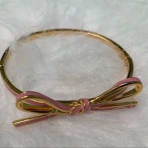 Kate Spade Bow Bangle in Pink